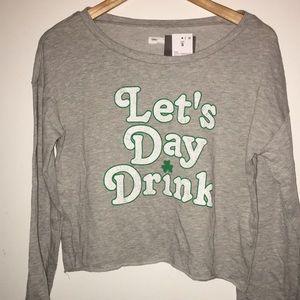 St. Patrick's day crop sweatshirt